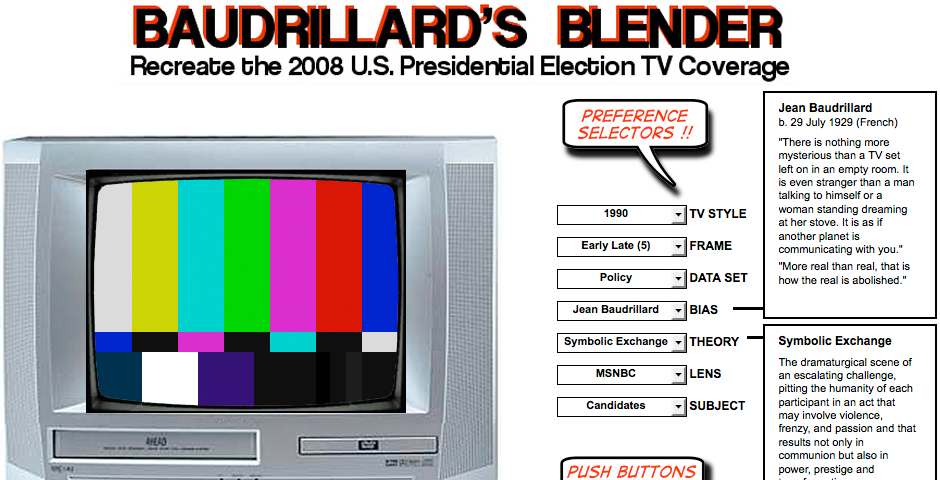 Nominee - Baudrillard's Blender
