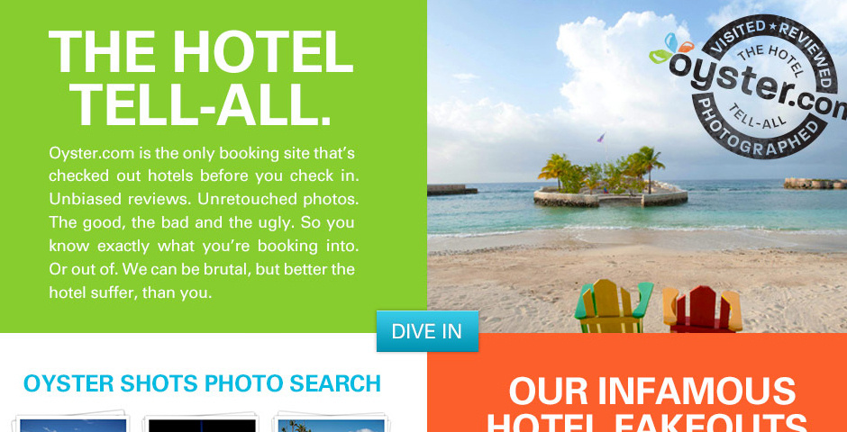 Webby Award Nominee - Oyster Hotel Reviews