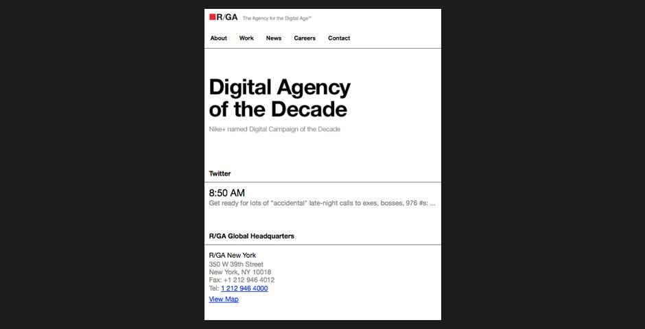 Webby Award Winner - Nokia viNe