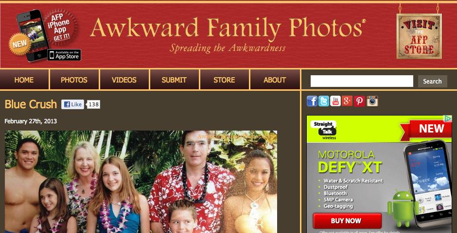 Webby Award Nominee - Awkward Family Photos