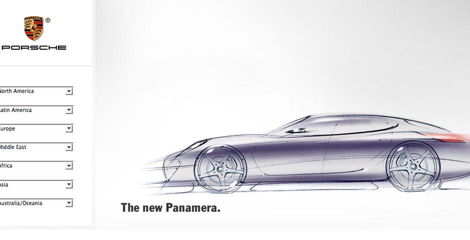 People's Voice - Porsche Panamera Website