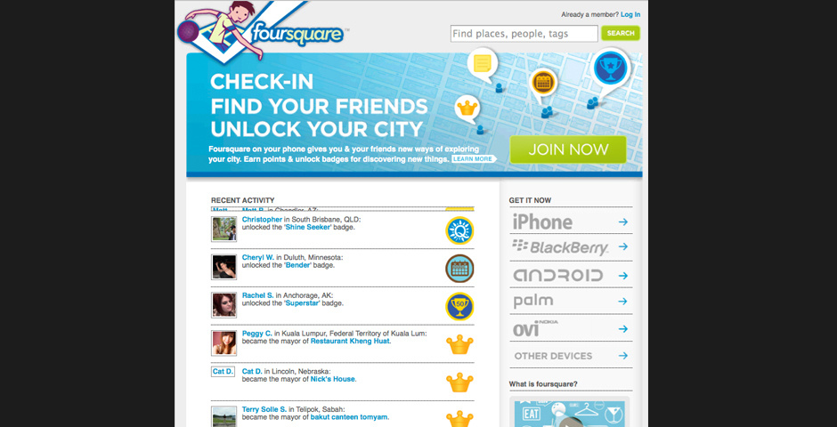 2010 Webby Winner - foursquare