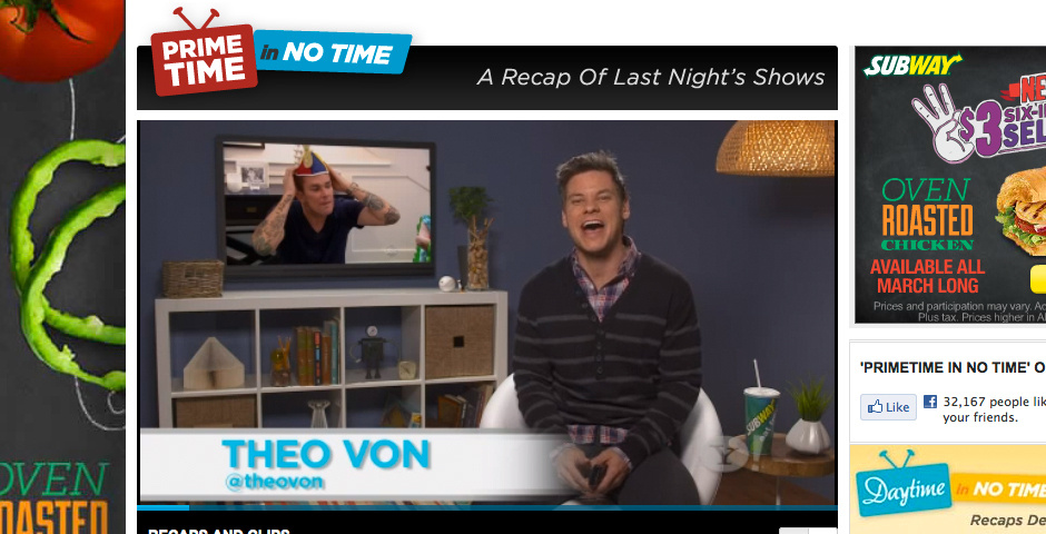 Webby Award Nominee - Prime Time in No Time on Yahoo! TV