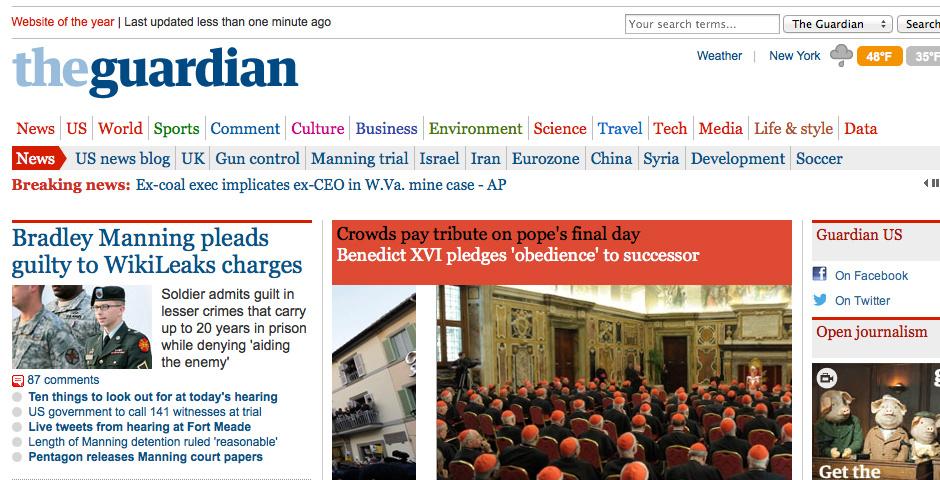 Webby Award Nominee - The Guardian