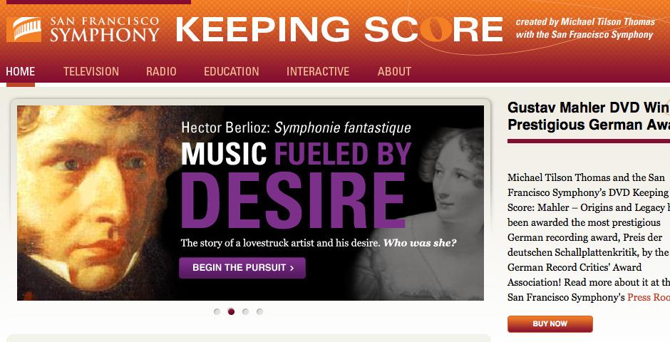 Webby Award Nominee - San Francisco Symphony\'s Keeping Score