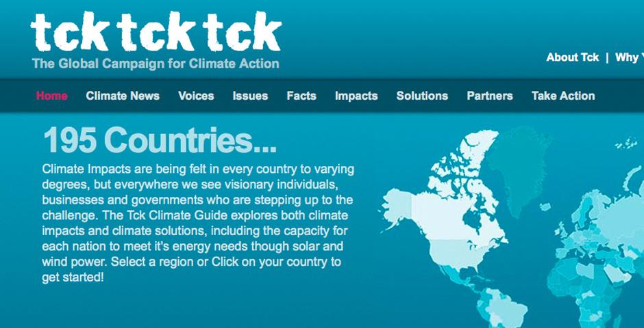 Webby Award Nominee - The TckTckTck Campaign