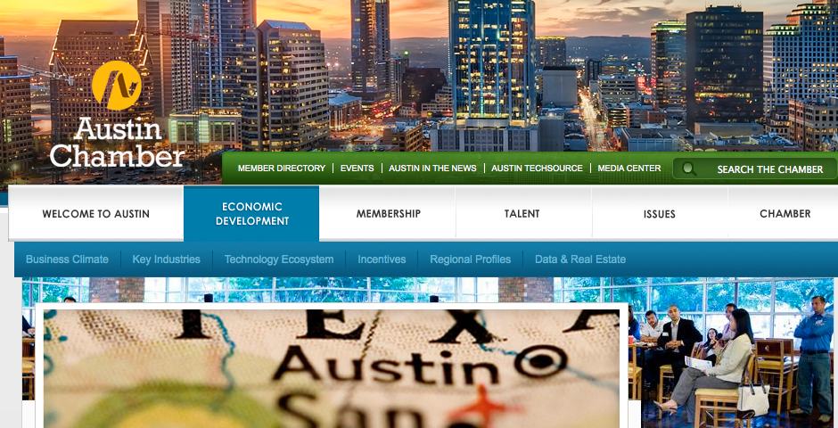 Nominee - Austin Chamber of Commerce: Austin Now microsite