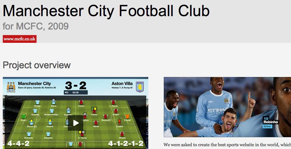 Webby Award Nominee - Manchester City Football Club
