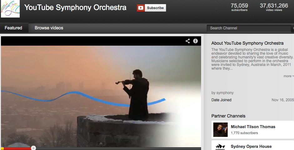 Nominee - YouTube Symphony Orchestra