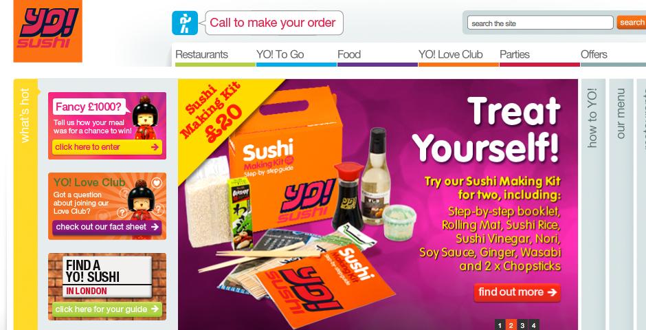 People's Voice / Webby Award Winner - YO! Sushi Website