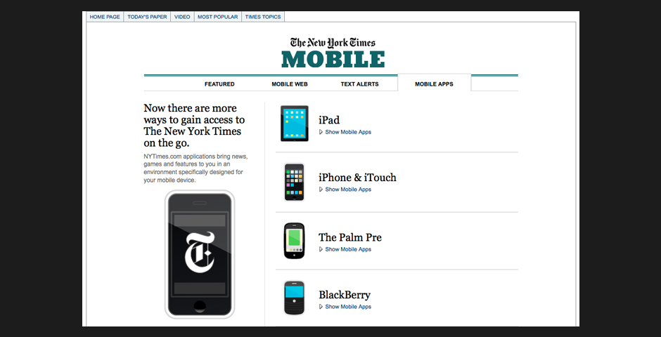 Nominee - The New York Times iPhone 2.0 Application