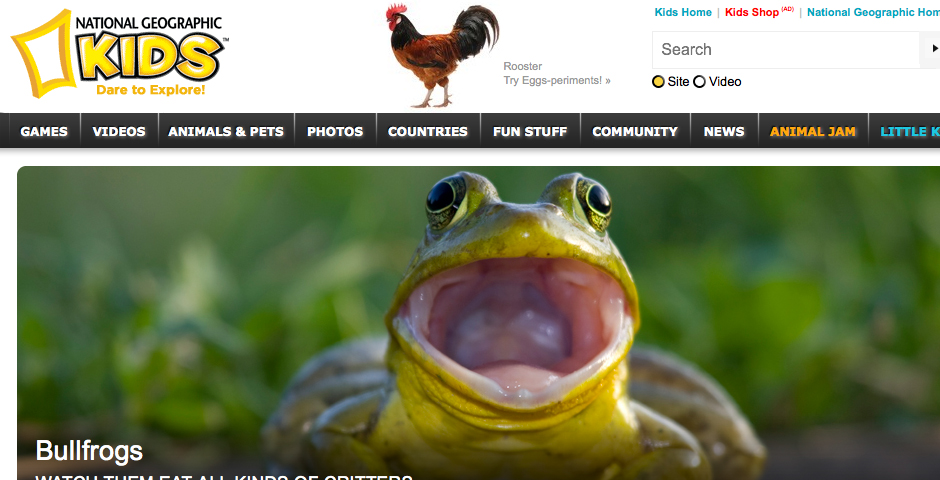 Webby Award Winner - National Geographic Kids