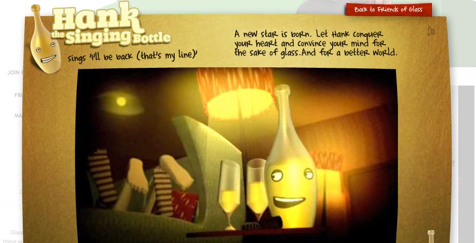 2010 Webby Winner - Hank The Singing Bottle