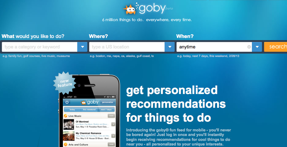 Webby Award Nominee - Goby