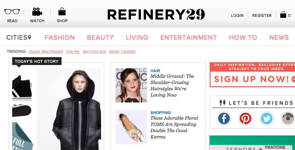 Webby Award Nominee - Refinery29
