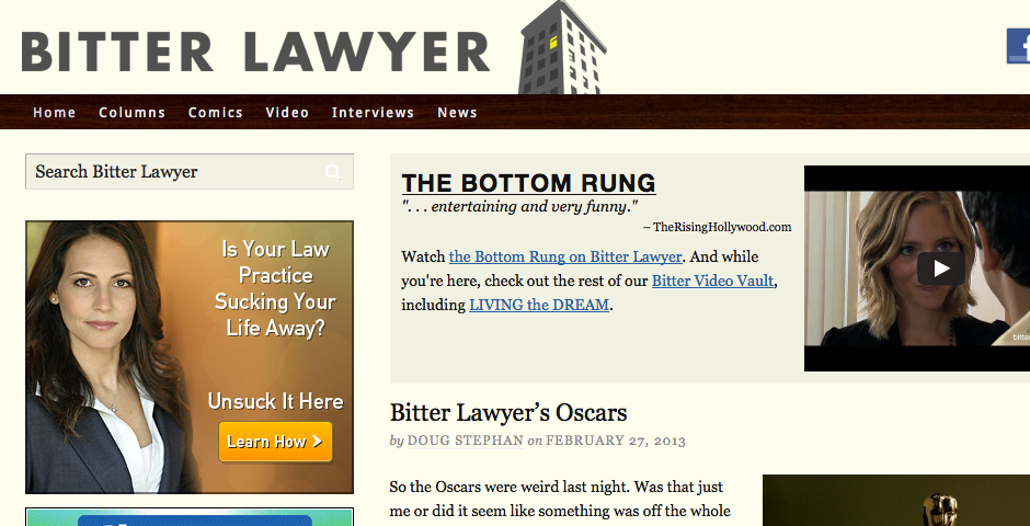 Webby Award Winner - BITTER LAWYER