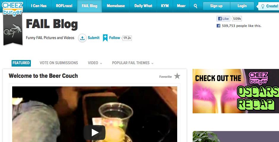 2010 Webby Winner - FAIL Blog