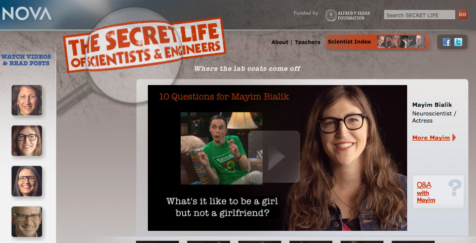 Webby Award Nominee - The Secret Life of Scientists
