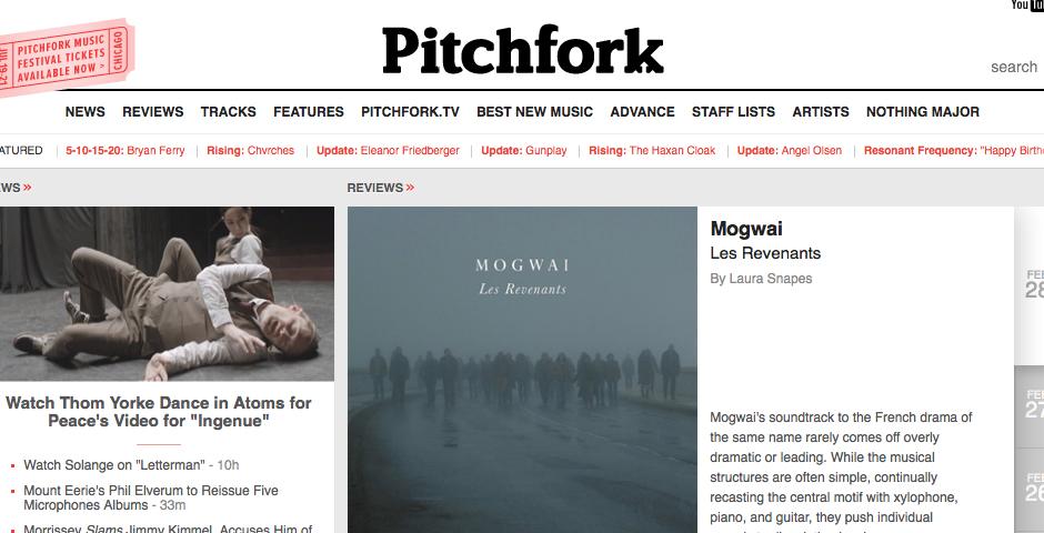 Nominee - Pitchfork Media