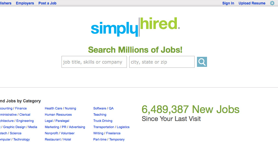 2010 Webby Winner - Simply Hired, helping people find the perfect job