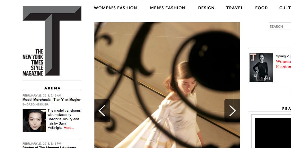 2010 Webby Winner - T: The New York Times Style Magazine