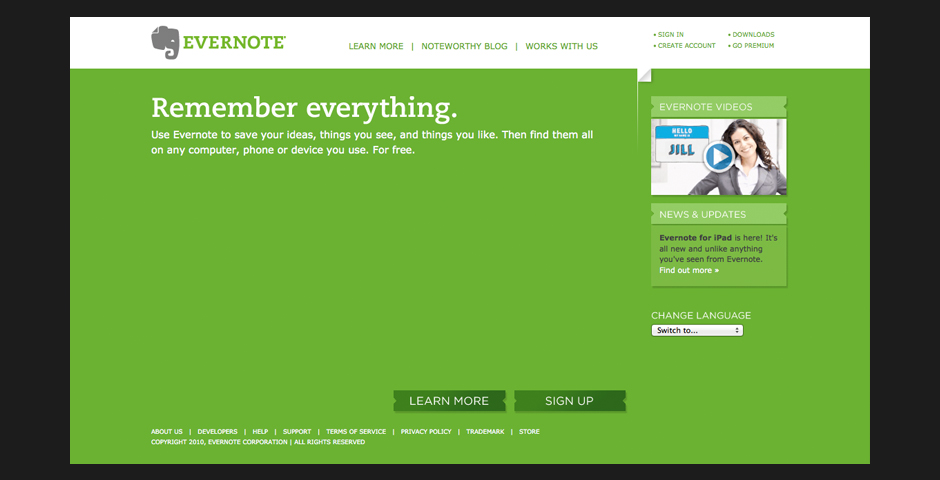 People's Voice / Webby Award Winner - Evernote