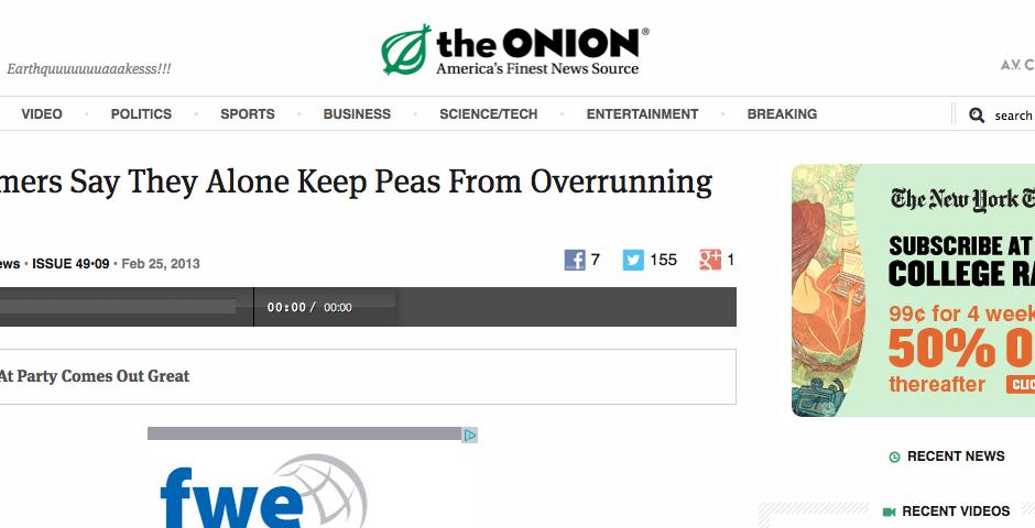 Nominee - The Onion Radio News