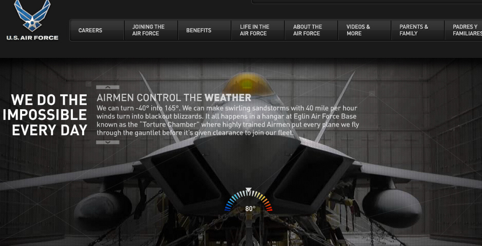 Webby Award Nominee - AirForce.com