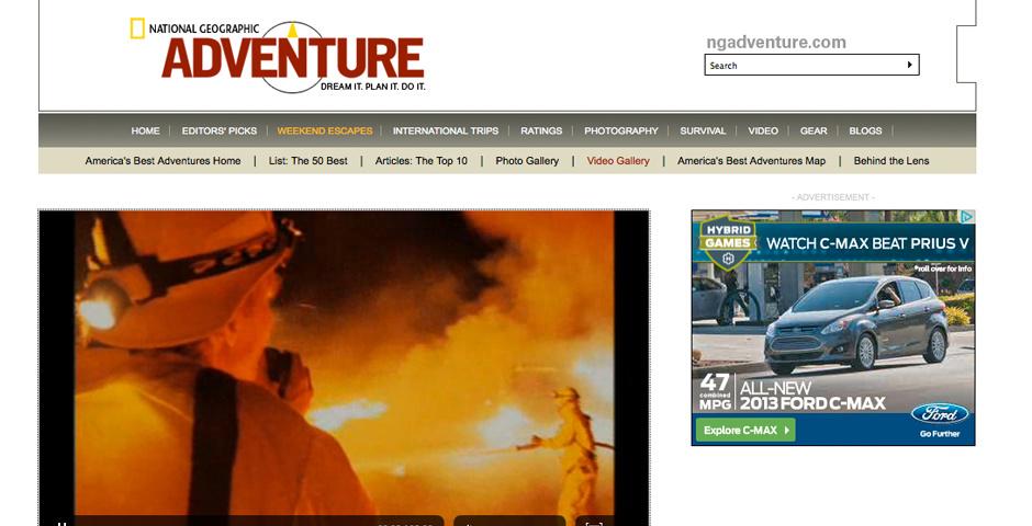 Webby Award Nominee - American Adventures: Fighting Wildfires