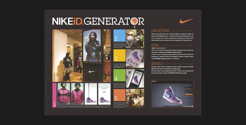 Webby Award Nominee - NIKEiD. generator