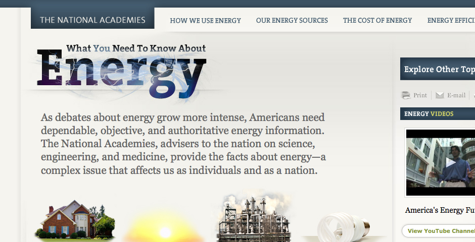 Nominee - The National Academies: What You Need to Know About Energy