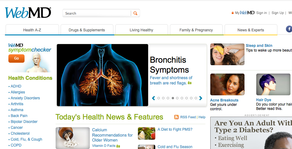 People's Voice / Webby Award Winner - WebMD Consumer Health News