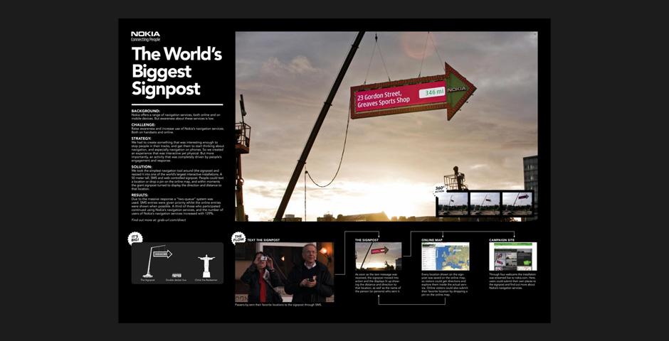 Webby Award Winner - The World's Biggest Signpost