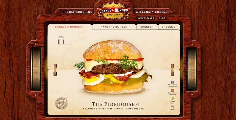 Webby Award Nominee - Cheese and Burger Society