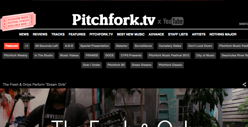 Nominee - Pitchfork TV