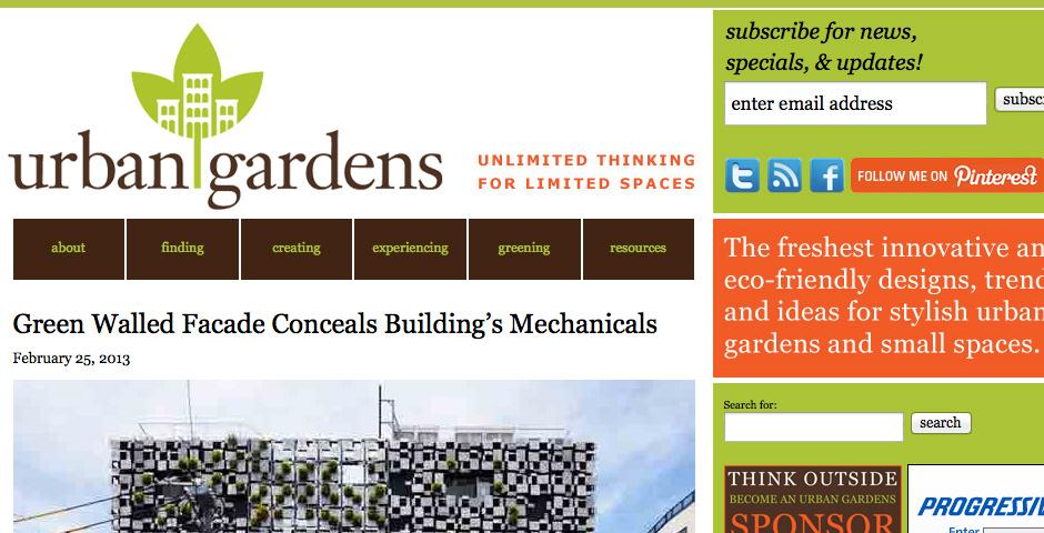 Webby Award Nominee - Urban Gardens