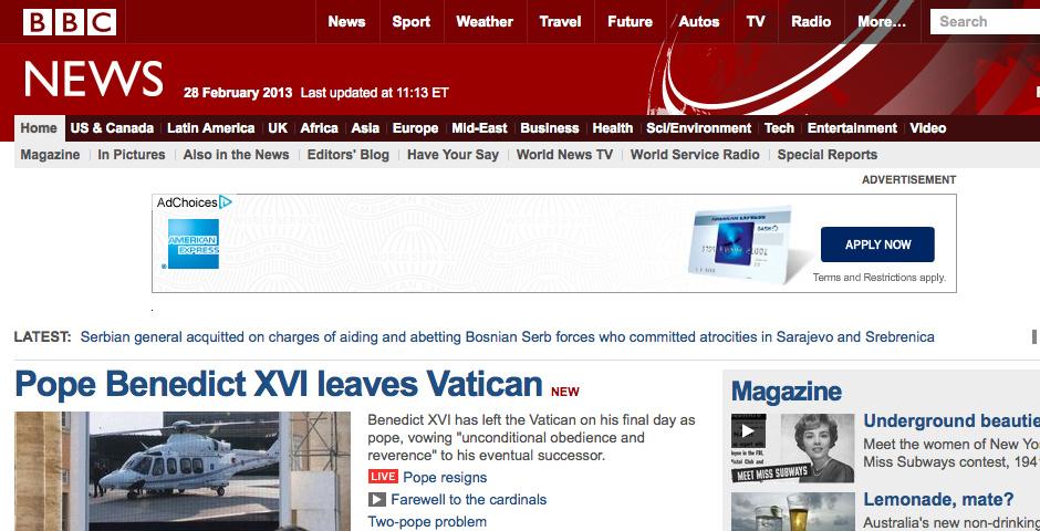 2010 Webby Winner - BBC News