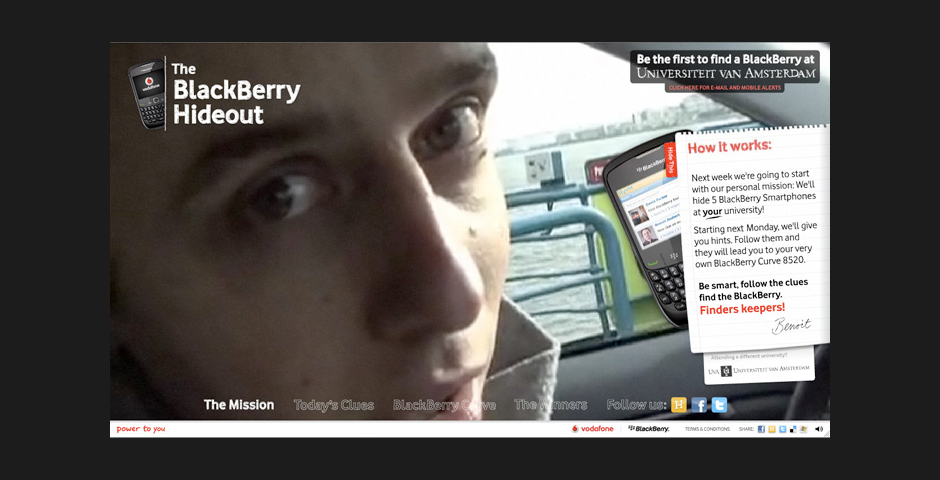 Nominee - Vodafone Blackberry Hideout