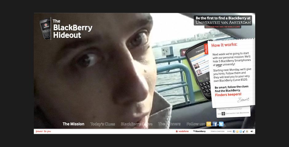 Webby Award Nominee - Vodafone Blackberry Hideout