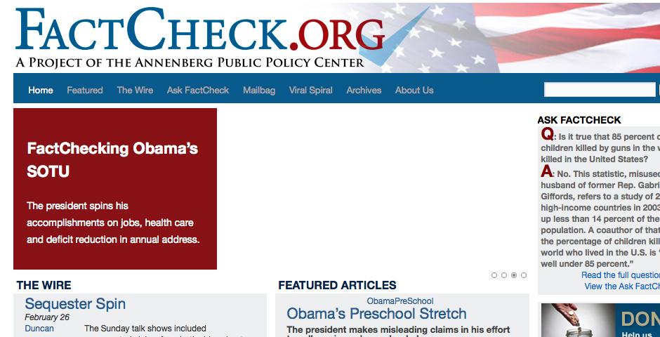 2010 Webby Winner - FactCheck.org