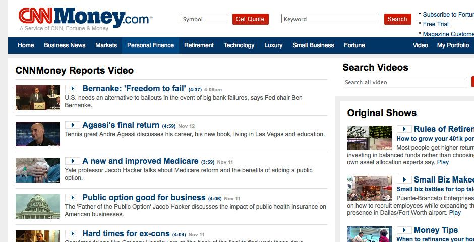 Webby Award Nominee - CNNMoney Reports