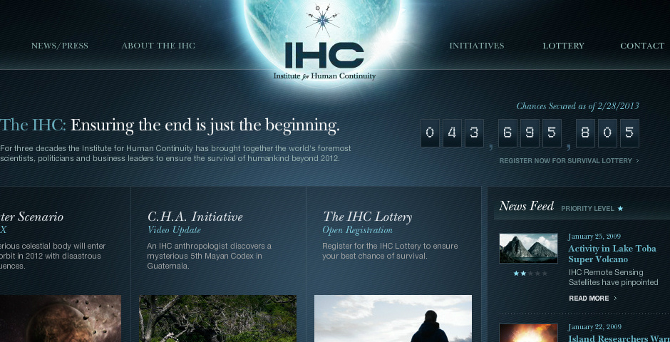 Webby Award Nominee - The Institute for Human Continuity