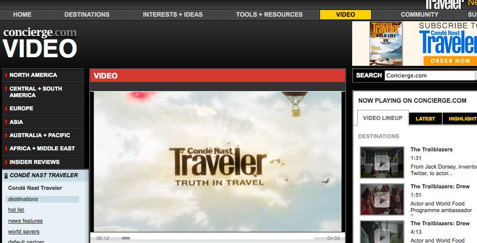 "Nominee - Conde Nast Traveler's ""Oh, Canada!"" Series"