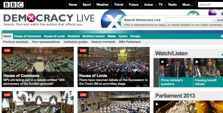 Webby Award Nominee - BBC Democracy Live