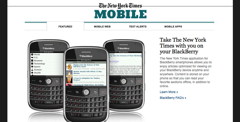 2010 Webby Winner - The New York Times Mobile