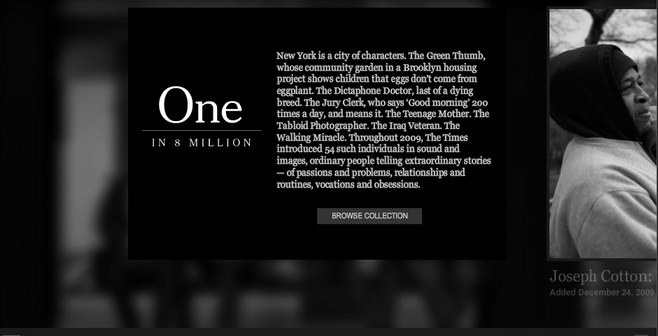 Nominee - One in 8 Million