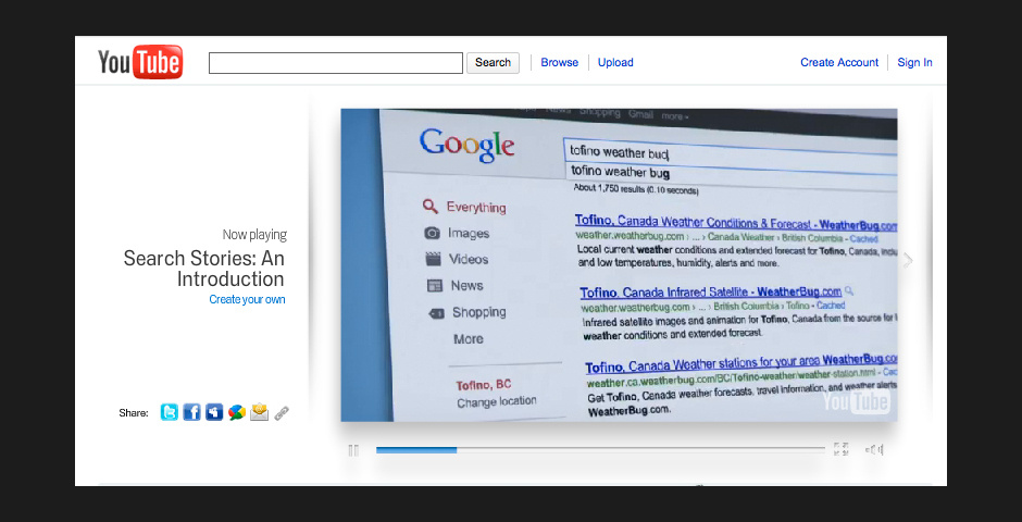 2010 Webby Winner - Google Search Stories