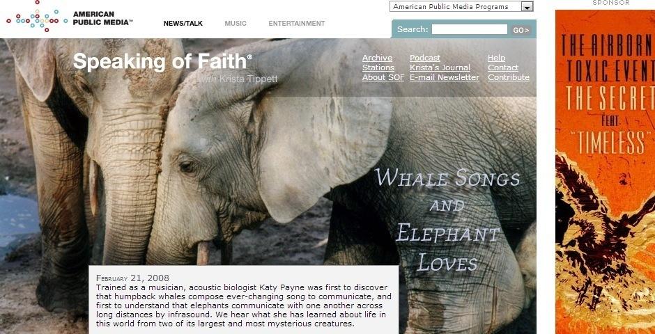 2008 Webby Winner - Speaking of Faith