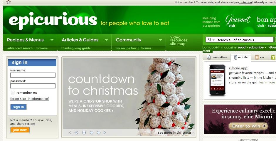 Nominee - epicurious.com