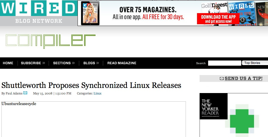 Nominee - Compiler Blog on Wired.com